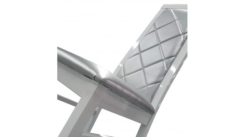 chaise baroque en similicuir matelass gris trenton gdegdesign. Black Bedroom Furniture Sets. Home Design Ideas