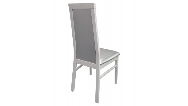 Chaises blanches simili cuir beautiful lot chaises paul - Chaise blanche et grise ...
