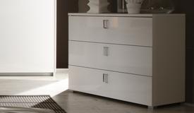 Commode design blanche 3 tiroirs - Gemma