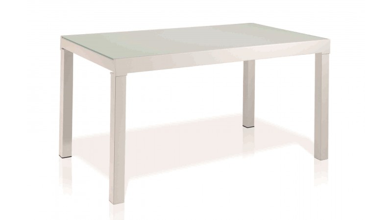 Table de salle manger carr e extensible en verre wat for Table laquee extensible