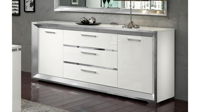 Bahut design blanc de salle manger 200 cm trenton Table et buffet salle a manger