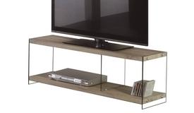 Meuble TV design verre et bois - Noor