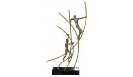 Statue métal et résine - Climbers