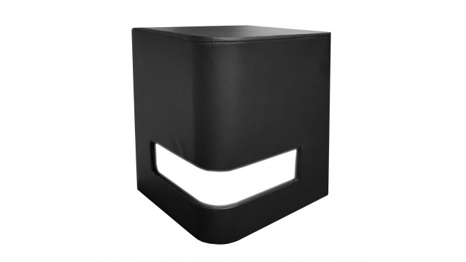 table de chevet en simili cuir avec leds int gr es avner. Black Bedroom Furniture Sets. Home Design Ideas