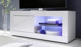 Meuble TV LED 1 porte - Lernig Small