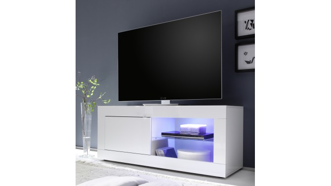 Meuble TV LED 1 porte - Lernig Small