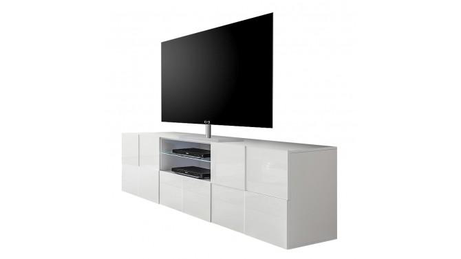 Meuble télé LED laqué blanc - Faust