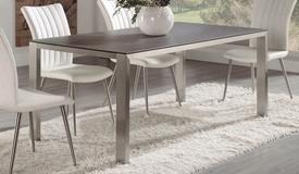 table manger moderne rectangulaire en verre dirce. Black Bedroom Furniture Sets. Home Design Ideas