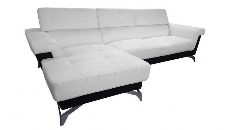 canap d 39 angle zack avec appuie t tes r glables et similicuir gdegdesign. Black Bedroom Furniture Sets. Home Design Ideas