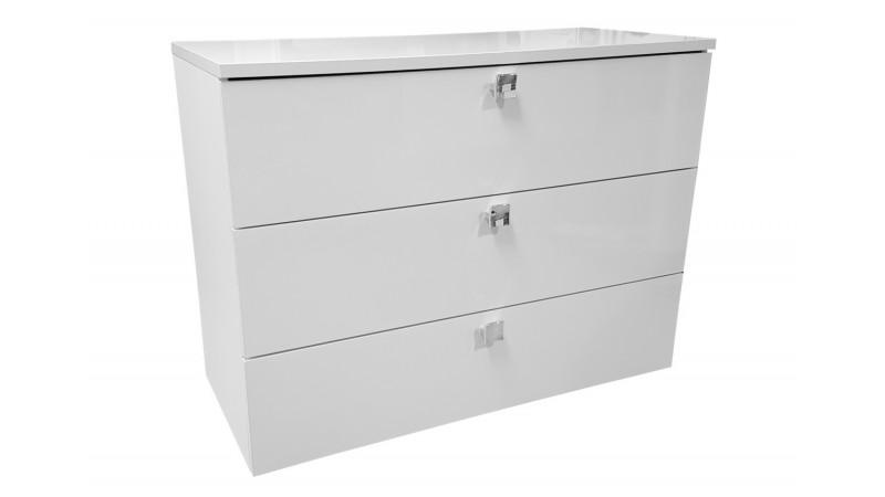 commode design de rangement laqu e blanche 3 tiroirs dune gdegdesign. Black Bedroom Furniture Sets. Home Design Ideas