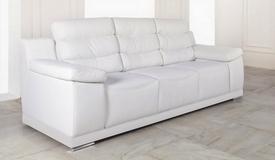 Canapé 3 places moderne en cuir - Goran
