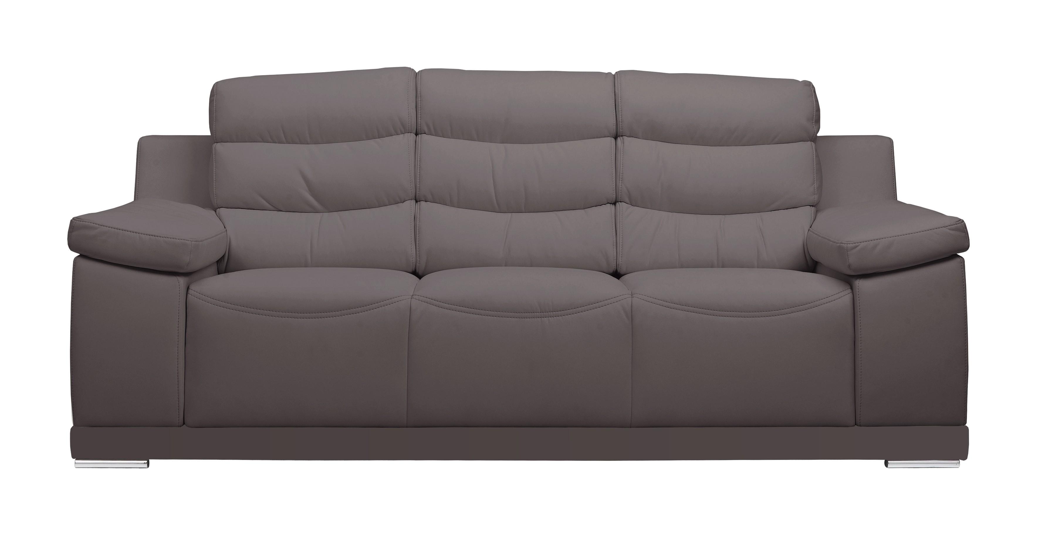 grand canapé de salon 3 places design en cuir goran - gdegdesign