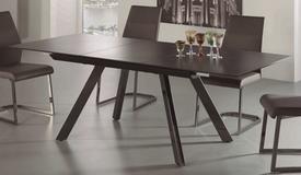 Table à manger extensible céramique sur verre - Sandor