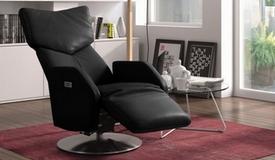 Fauteuil relax cuir bi-moteur électrique - Dillon