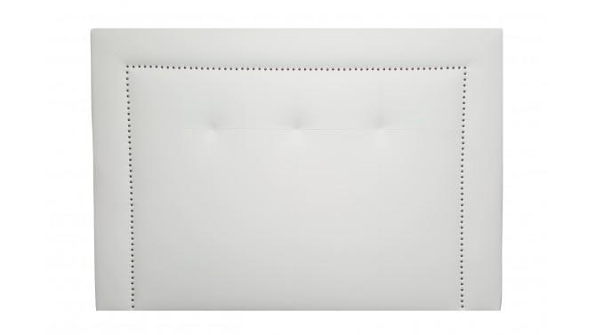 Tête de lit simili cuir blanc avec clous - Perla