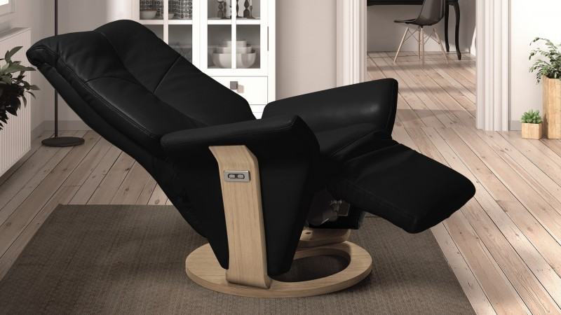 fauteuil lectrique de salon design relax en cuir orio gdegdesign. Black Bedroom Furniture Sets. Home Design Ideas