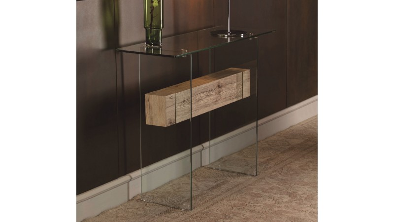 console verre et bois design transparente diana gdegdesign. Black Bedroom Furniture Sets. Home Design Ideas