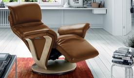 Fauteuil électrique de relaxation en cuir - Eos