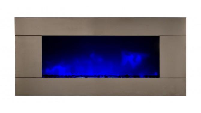 Cheminée design lumineuse inox - Pure XXL