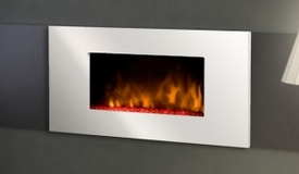 Cheminée électrique façade blanche - White Loft