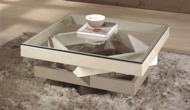 Table basse moderne en verre - Hana