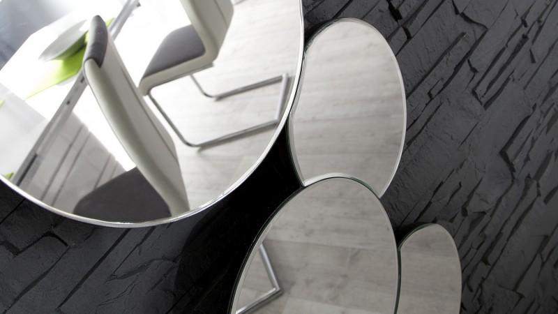 grand miroir design 145 cm aux formes arrondies lanark. Black Bedroom Furniture Sets. Home Design Ideas