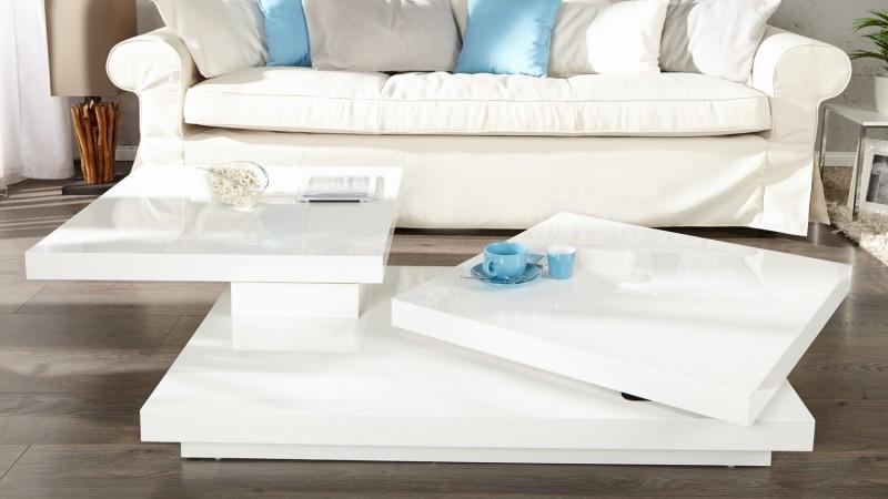 table basse modulable de salon design laqu e blanche riga gdegdesign. Black Bedroom Furniture Sets. Home Design Ideas
