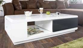 Table basse design tiroir pivotant - Maxan