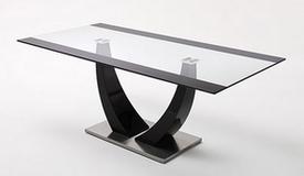 Table à diner noire avec plateau verre - Sopot
