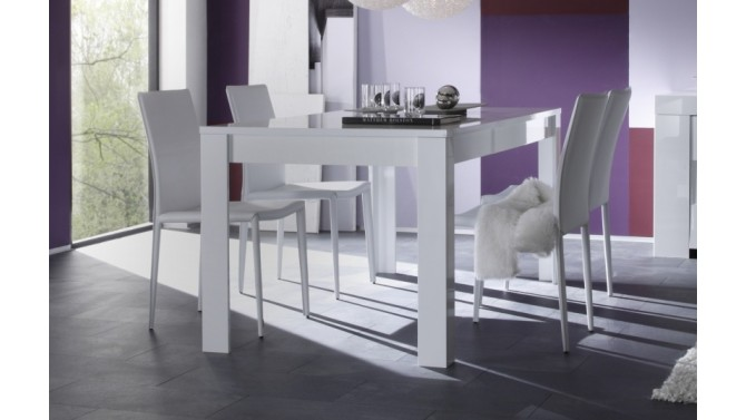 table manger design rectangulaire laqu e blanche konrad gdegdesign. Black Bedroom Furniture Sets. Home Design Ideas