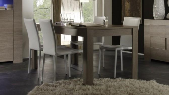 Table de salle à manger moderne en bois - Boris