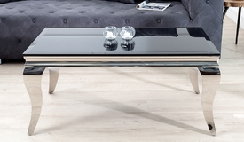 Table basse design noire baroque - Zita