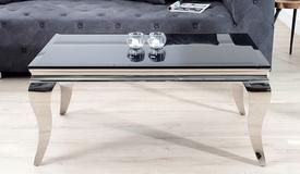 Table basse design noire baroque - Zita