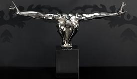 Sculpture déco design chromée athlète - Hudson
