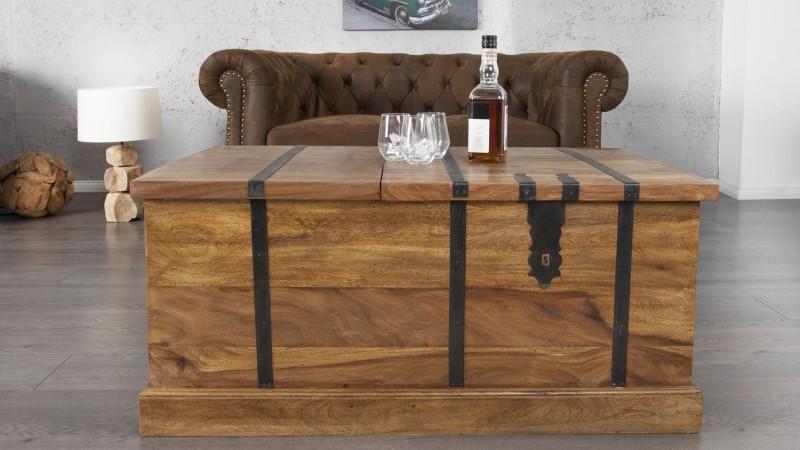 table basse de salon en bois coffre de rangement harald gdegdesign. Black Bedroom Furniture Sets. Home Design Ideas