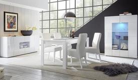 Salle à manger design laquée blanche - Faust
