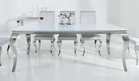 Table de salle à manger baroque blanche - Zita