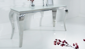 Console moderne baroque blanche - Zita