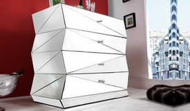 Commode miroir design 4 tiroirs - Hagen