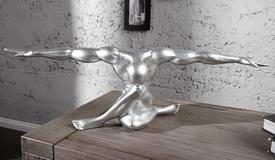 Statue argentée athlète homme - Celso