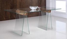 Table à manger en verre transparent - Istanbul