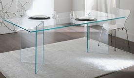 Table rectangulaire design en verre - Bogota