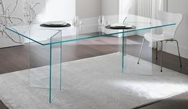 Table rectangulaire design en verre - Bogota