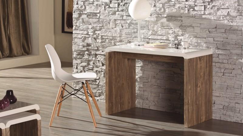 console de rangement design blanche et bois aren gdegdesign. Black Bedroom Furniture Sets. Home Design Ideas
