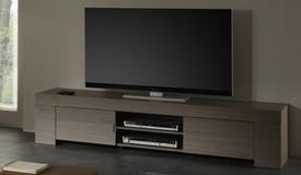 Meuble TV design bois avec portes - Boris