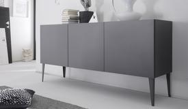 Bahut design gris mat 3 portes - Ivo