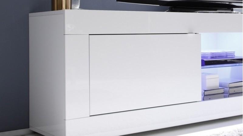 meuble tv design 2 portes lumineux avec leds lernig gdegdesign. Black Bedroom Furniture Sets. Home Design Ideas