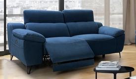 Canapé relax en tissu 3 places avec USB - Faro