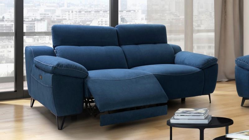 Canapé de relaxation électrique design 3 places Faro ...