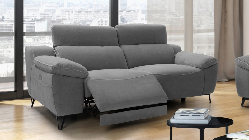 Salon complet relax lectrique design canap 3 2 faro - Salon relax electrique ...